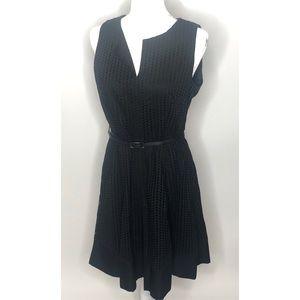 Calvin Klein black belted dress Sz 10